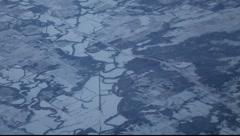 Aerial Snow Plaines - stock footage
