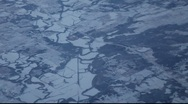 Aerial Snow Plaines Stock Footage