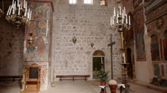Monastery of the Cross church P4 Stock Footage