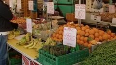 Vegetables and fruits market 3 Stock Footage