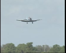 US Air Force Harvard (Texan) AT-6 fly by. Stock Footage