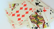 Stock Video Footage of Pack of playing cards