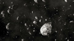 Stock Video Footage of CG Asteroid Field 01 (1080p 23.976)