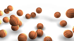 Basketball 2011 sign on white (HD 30fps + Alpha) Stock Footage