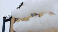 Smoke and steam from factory Stock Footage