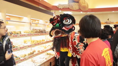 Dragon Dance Chinese New Year - stock footage