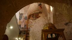 Monastery of the Cross church P5 Stock Footage