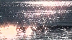 Waves 04 - star filter Stock Footage