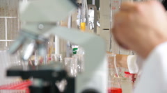 Research laboratory - stock footage