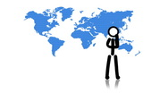 Two People World Map Stock Footage