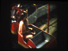 Kiddie mini Roller coaster at carnival - stock footage