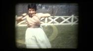 Girl Hula Hoops 1959 Stock Footage