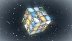 Rubik Cube Slideshow Stock After Effects