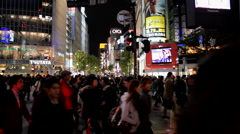 Shibuya in Tokyo Japan at Night - stock footage