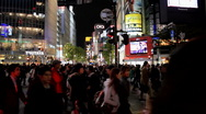 Stock Video Footage of Shibuya in Tokyo Japan at Night