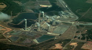 Stock Video Footage of Nuclear Power Plant Aerial