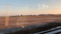 View from train on winter Italy Stock Footage