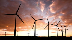 Turbine Sunset 02 Stock Footage