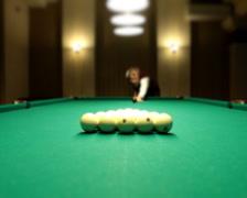 Billiards game split pyramids PAL Stock Footage