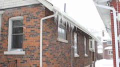 Winter house. Stock Footage