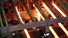 Foundry machinery at work - stock footage