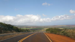 Waimea Canyon Road, Kauai, Hawaii timelapse Stock Footage
