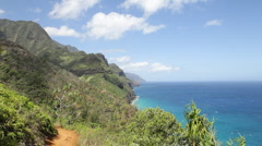 Kalalau Trail, Kauai, Hawaii Stock Footage
