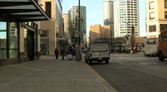 Stock Video Footage of Cars on road on streets of Seattle