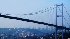 Suspended bridge  Stock Footage
