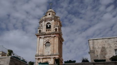 Monastery of the Cross clouds P2 Stock Footage