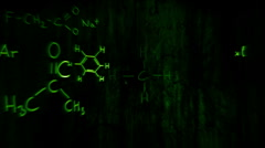 Chemistry equations animation Stock Footage