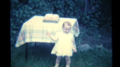 Little Girl Walking On Her First Birthday (1940 Vintage 8mm) Stock Footage