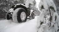 Stock Video Footage of Jeep, winter wood
