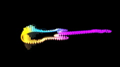 Playing Guitar Loop - Equalizer 102 (HD) Stock Footage