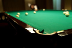 Billiards game blow on ball NTSC Stock Footage