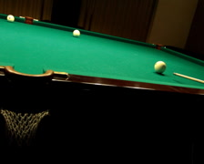 Billiards game blow on ball PAL Stock Footage