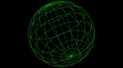 db wireframe globe 01a hd1080 - stock footage