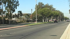 Fire Truck Speeding Down Street Stock Footage