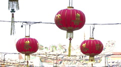 Chinese New Year Lanterns Stock Footage