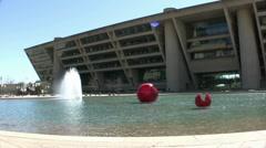 Dallas City Hall Dallas Texas Stock Footage