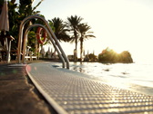 Luxury Hotel Pool Stock Footage