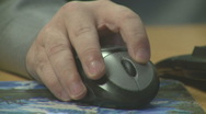 Hand operating a mouse Stock Footage