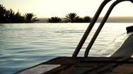Luxury Hotel infinity pool Stock Footage