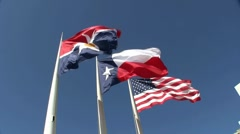 Three Flags  III Stock Footage