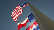 Stock Video Footage of Three Flags