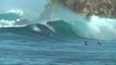 Pro Surfer 10, Honolua Bay  Stock Footage
