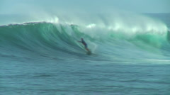 Pro Surfer 9, Honolua Bay  Stock Footage