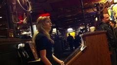 Restaurant Hostess Stock Footage