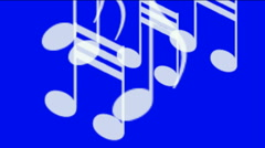 Music Notes treble clef sharp flat phrases conductor performance concerts. Stock Footage
