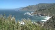 North view California Coast Stock Footage